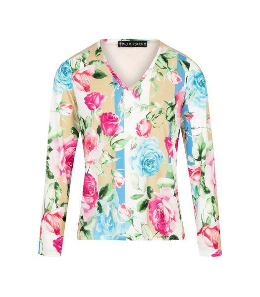 Tweedelig t-shirt met rozenmotief NISA