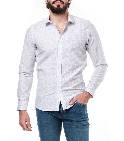Slim fit overhemd met lange mouwen