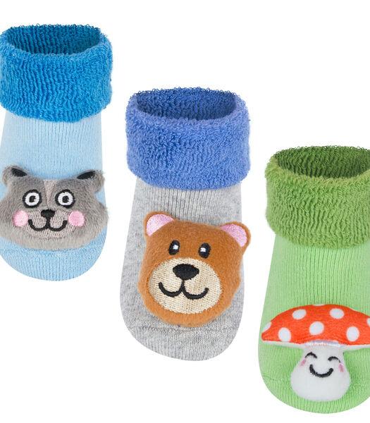 3 paar anti-slip sokken -