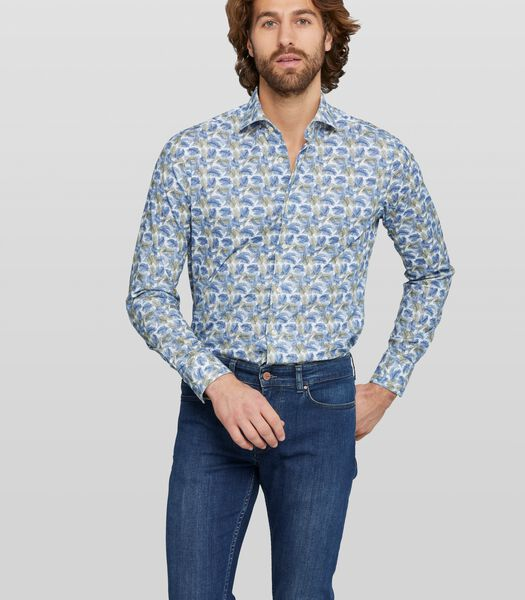 Stretch overhemd met print