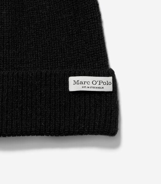 Bonnet en laine d'alpaga mélangée douillette