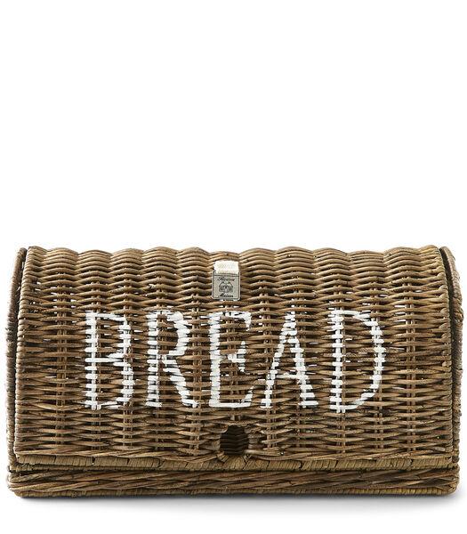 Rustic Rattan Bread Box