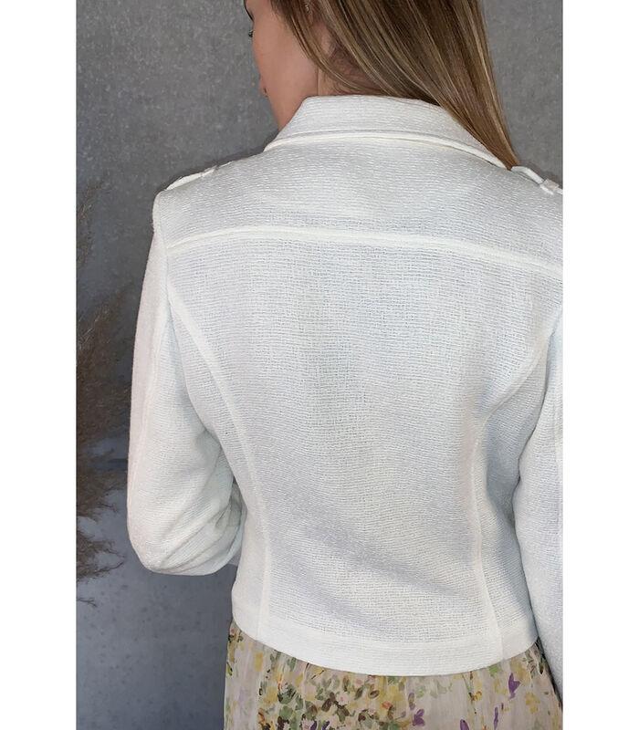 Mooi aansluitend wit jasje met reverskraag image number 1