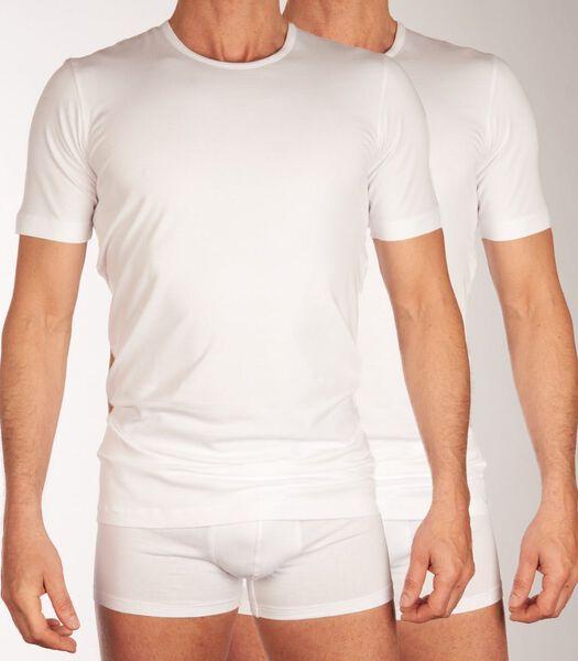 T-shirt ronde hals 2 pack shirt 95/5 h-s