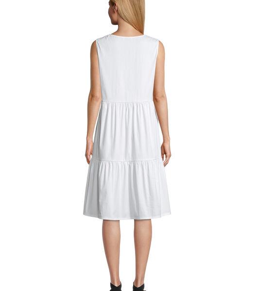 Gelaagde jurk met stroken