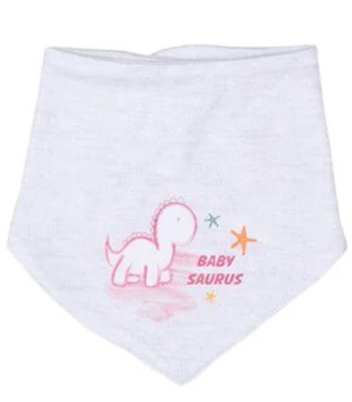 Baby pyjama met bandana en mutsje van biologisch katoen image number 3