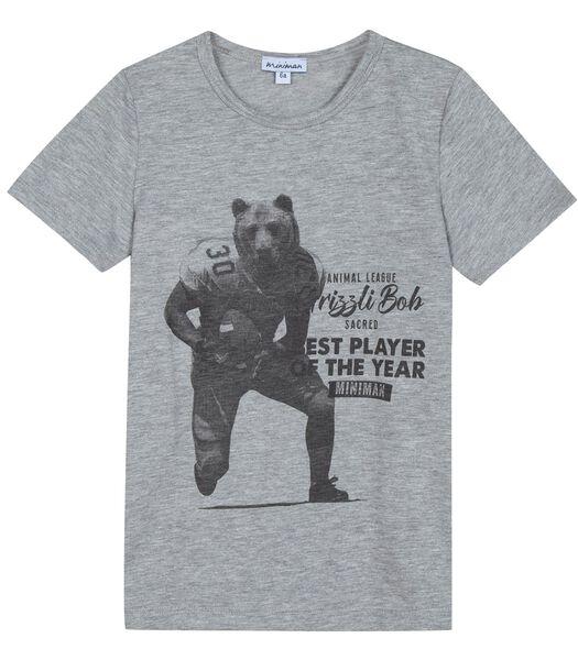 T-shirt col rond motif devant