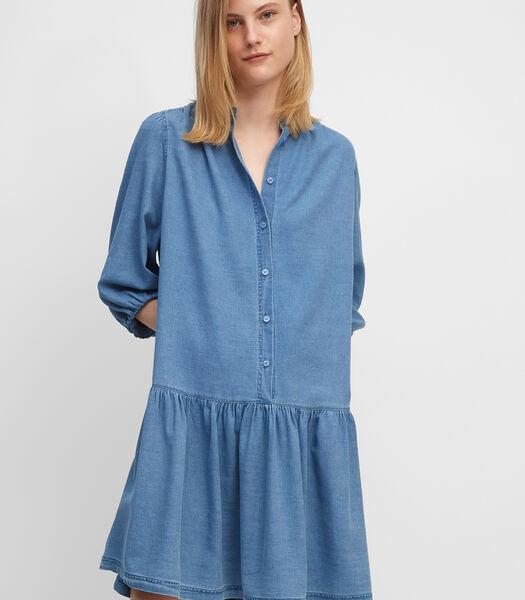 Robe en jean en pur coton