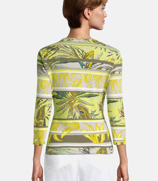 Cardigan façon t-shirt de texture côtelée