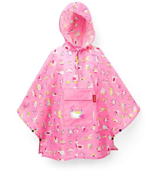 Mini Maxi Poncho M Kids - Regenponcho - ABC Roze