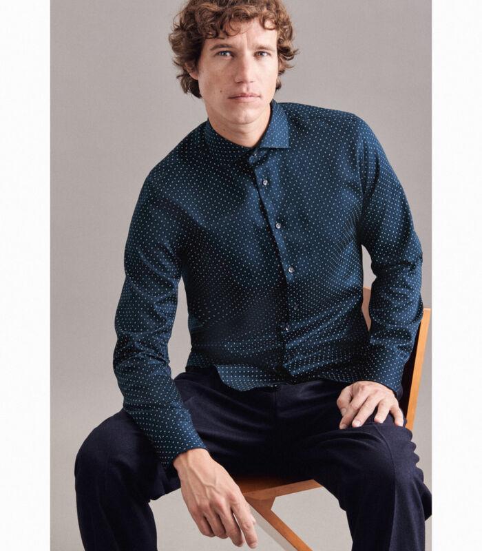 Overhemd Slim Fit Lange mouwen Print image number 4