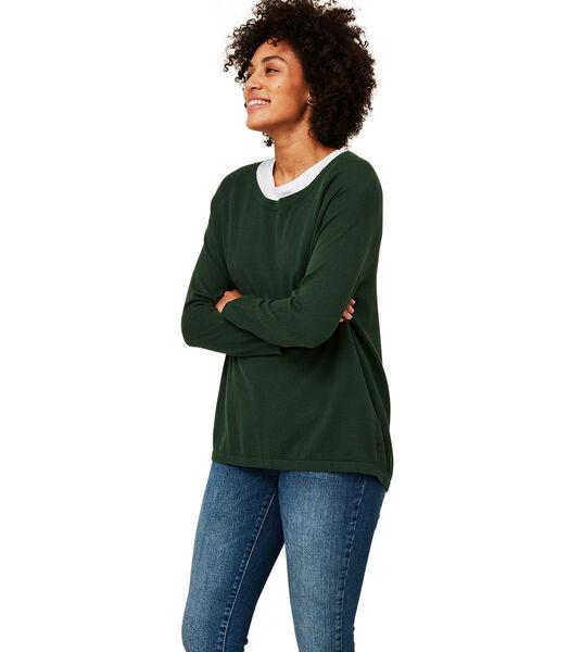 Lea trui van biologisch katoen/kasjmier