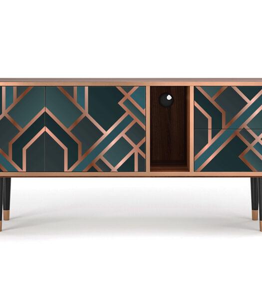 T1 Bronze Crossroad - Tv-meubel - 2 deuren en 2 laden