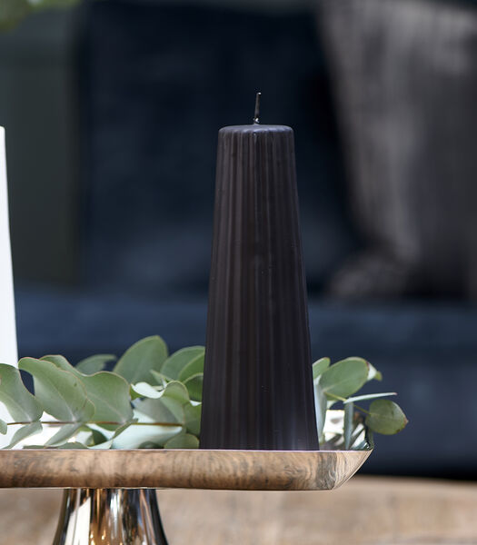 Cône Ridge Candle noir 7x20