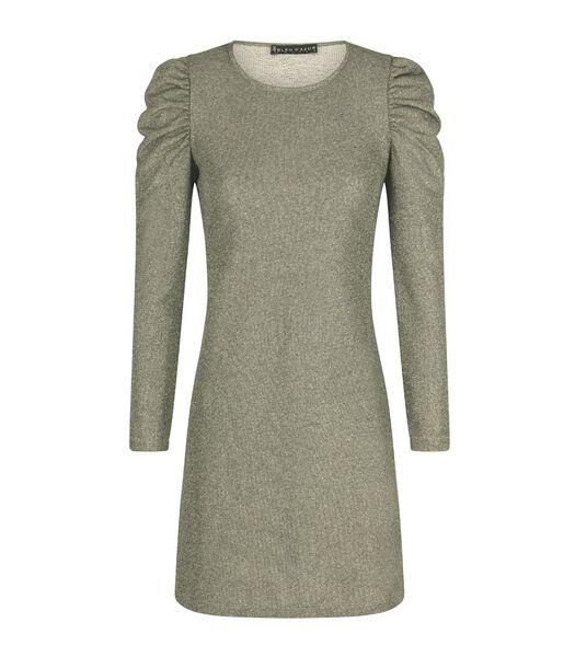Glinsterende off-the-shoulder jersey jurk KATE