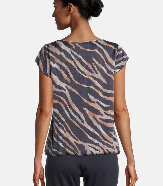 Blouse in shirtstijl met animal print
