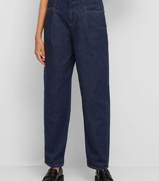 Jeans met bandplooien van authentic raw denim