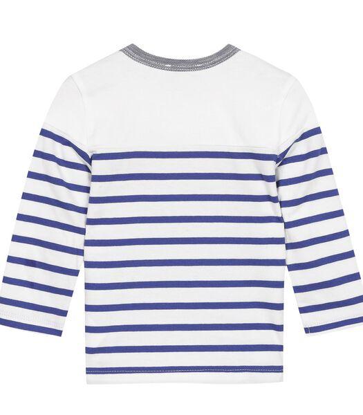Getreepte T-shirt met lange mouwen