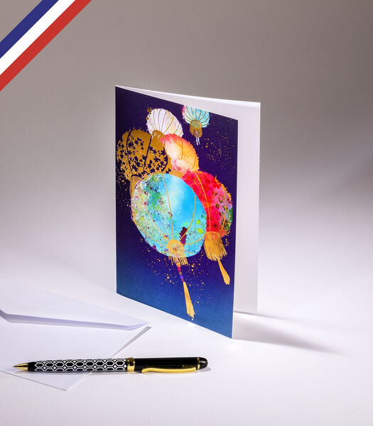 Dubbele kaart kleurboek - Lampionnen