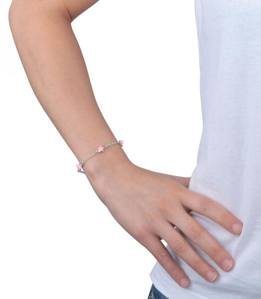 Armband in Zilver 925, Emaille B-BABY