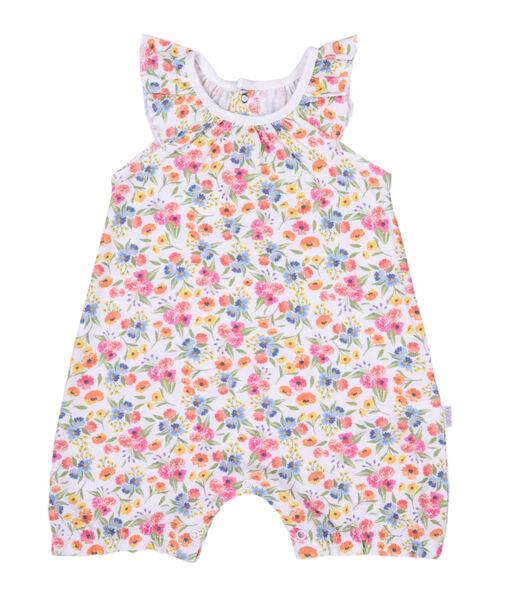 Biologisch katoenen babypakje voor meisjes, Bloemen