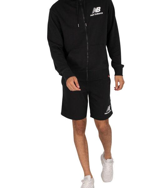 Essentials hoodie met volledige rits