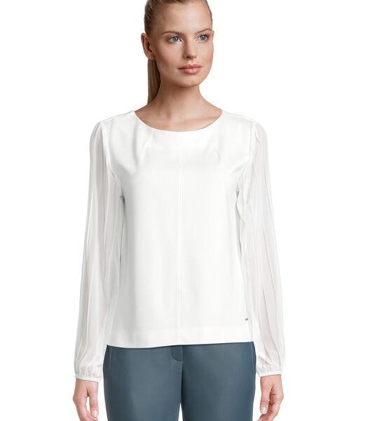 Sweatshirt met plissé