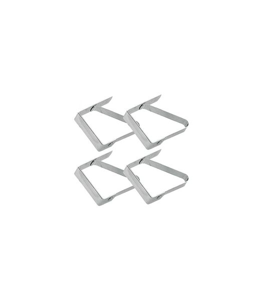 Pinces à nappe acier 4 pièces FERMO