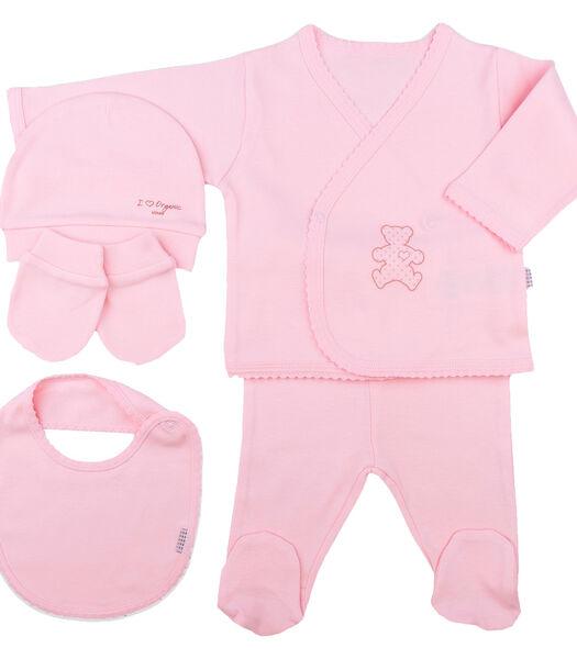 Coffret de vêtements naissance en coton bio - 5 pièces,