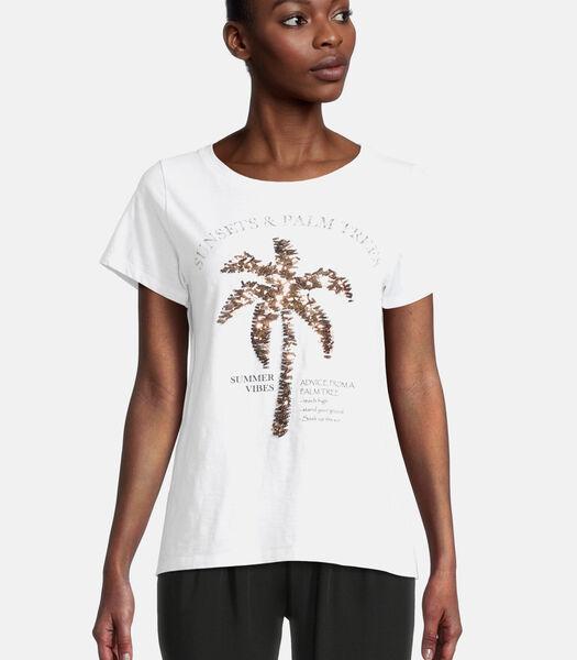 Casual shirt met ronde hals