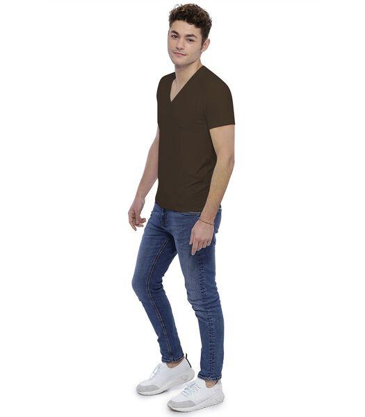 T-shirt col V profond manches courtes JULIEN