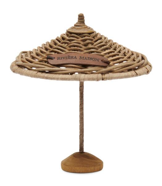 Rustic Rattan Umbrella Decoration