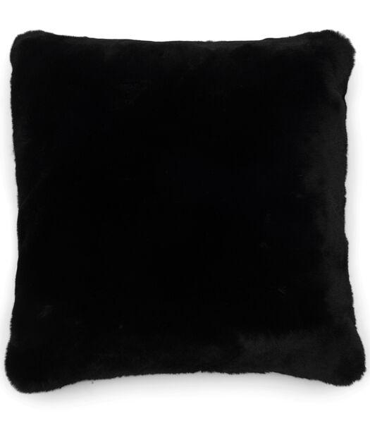 Faux Fur Pillow Cover black 50x50