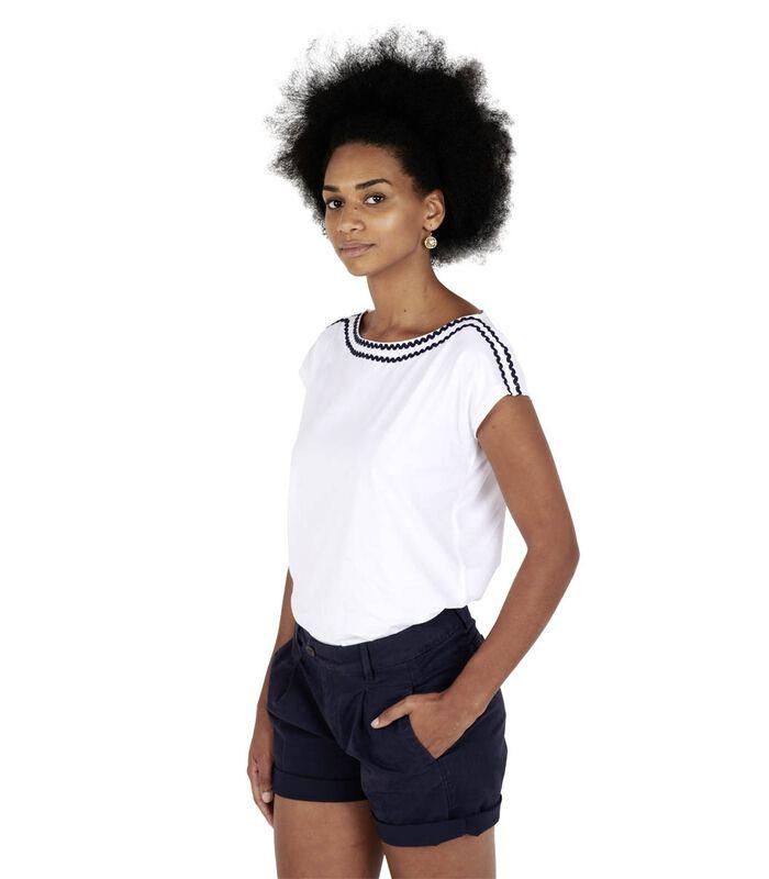 T-shirt zigzagafwerking TROPIQUE image number 0