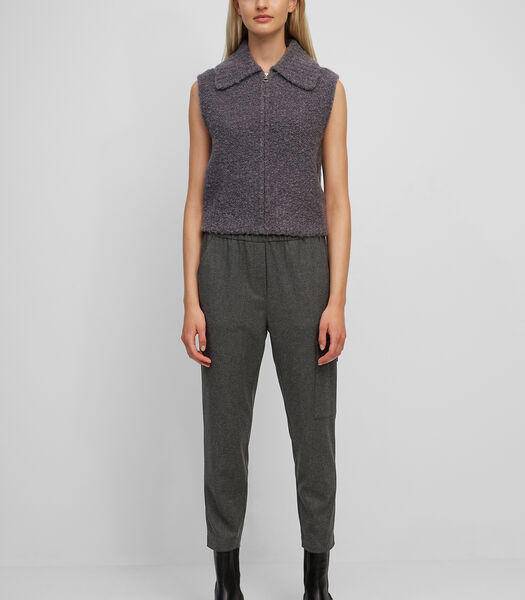 Tailored jogger pants mix van viscose en wol