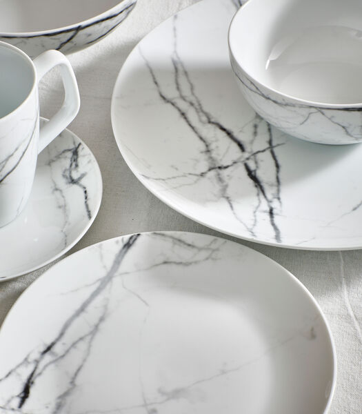 Servies 20-delig marble Stone