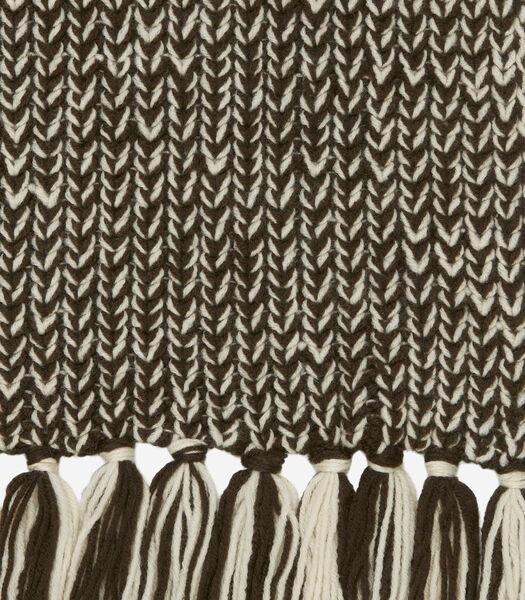 Sjaal met lange franjes