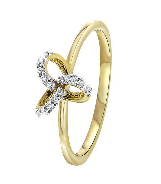 Bague en or jaune avec diamant 0,07ct