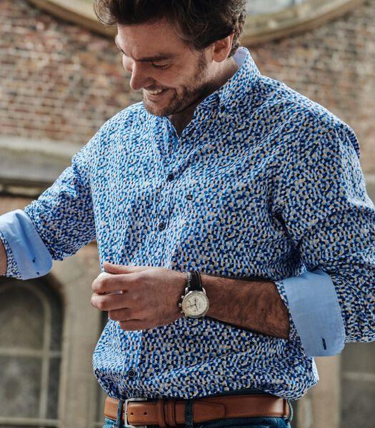 Chemise avec motif abstrait