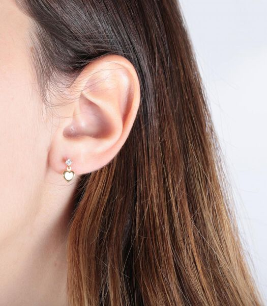 B-BABY Boucles d'oreilles Or Jaune 375