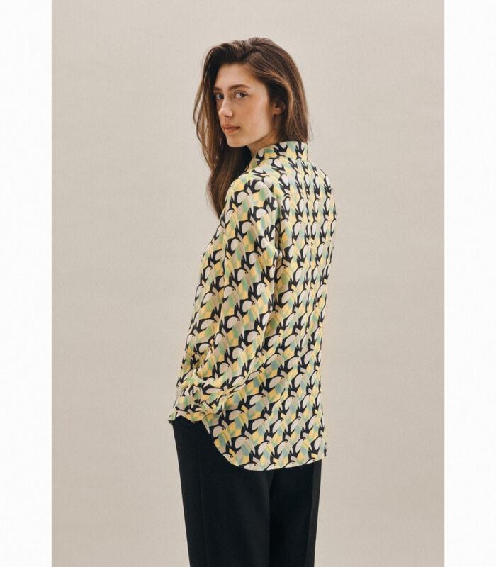 Shirtblouse Print Lange mouwen Kraag image number 1