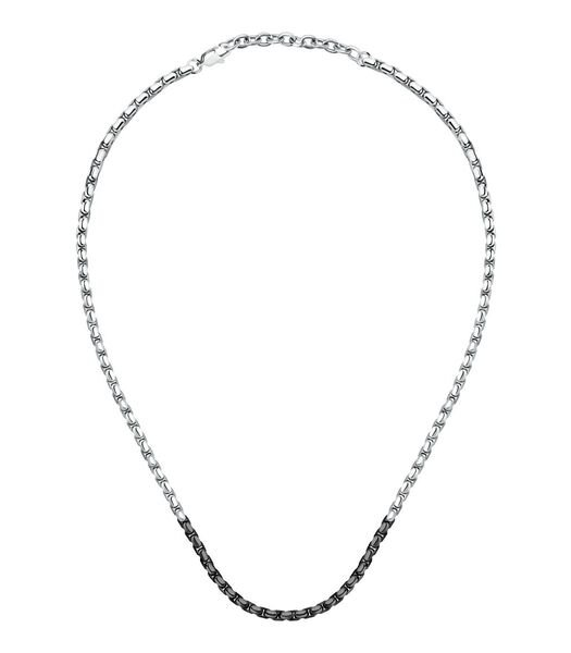 Halsketting in staal, IP zwart CATENE