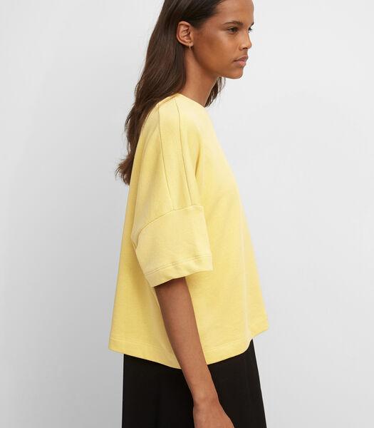 Sweatshirt met korte mouwen van organic cotton