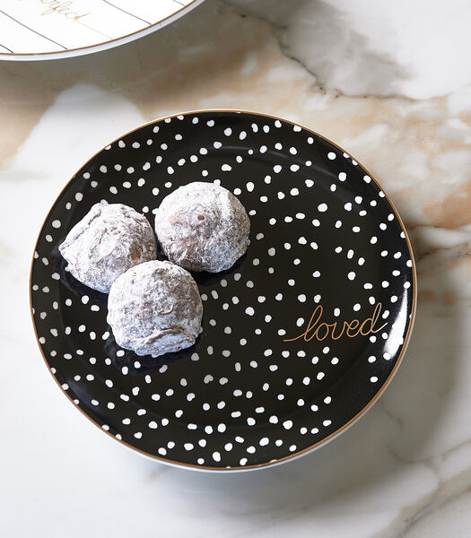 Dots & Stripes Loved Cake Plate