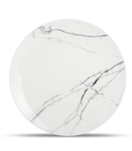 Plat bord 26,5cm marble Stone - set/4