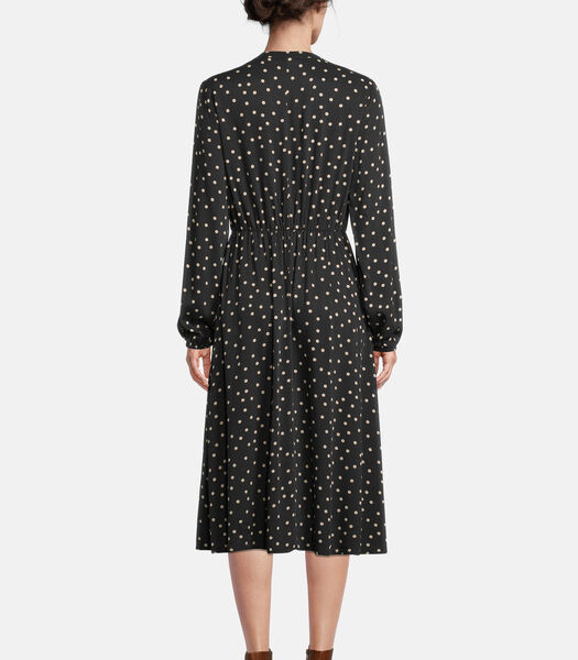 Midi-jurk met kraag