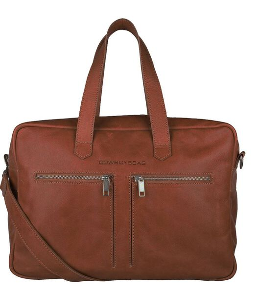 "Cowboysbag Back to School Kyle Bag 15 ""cognac"