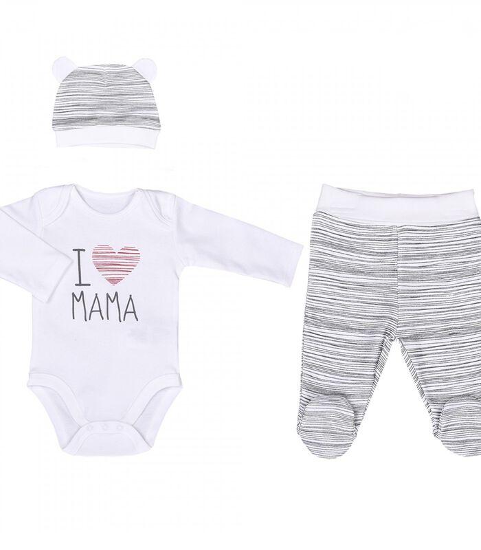 3-delige baby set, I LOVE MAMA image number 0