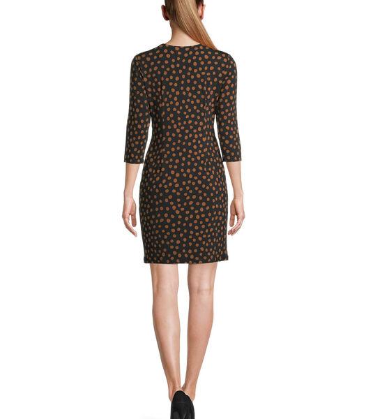 Jersey jurk met 3/4-mouw