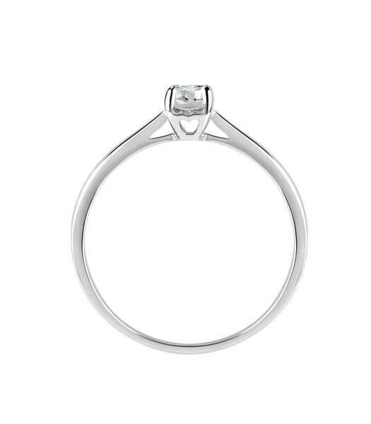 Ring in 750 witgoud, ecologische diamant